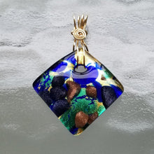 Murano Glass Curved Pendant with Gold Filled Bail