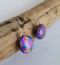 Multi-Color Dichroic Glass Earrings