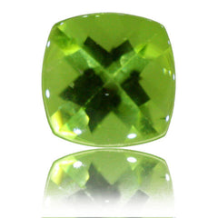 8mm Cushion Buff-top Peridot