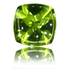 8mm Cushion Buff-top Peridot 1.90ct