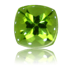 8mm Cushion Buff-top Peridot 2.40ct