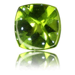 8mm Cushion Buff-top Peridot 1.97ct