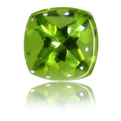 8mm Cushion Buff-top Peridot 2.39ct