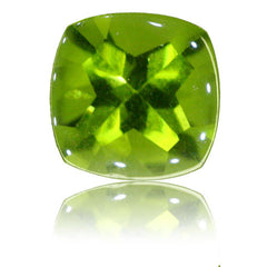 8mm Cushion Buff-top Peridot 2.58ct