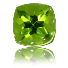 8mm Cushion Buff-top Peridot 2.54ct