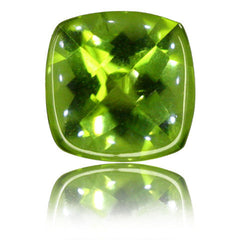 8mm Cushion Buff-top Peridot 2.15ct