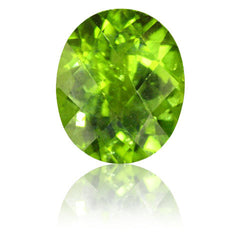 12x10mm Oval Peridot with Checkerboard