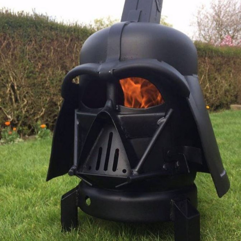 Darth Vader Wood Burner