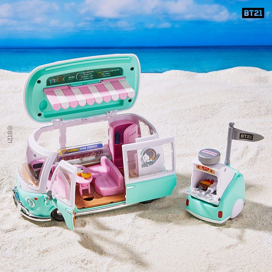 Win BT21 Figure Play Set - Camping Car Edition!