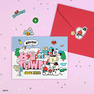 BT21 [ BT21 TOWN ] POSTCARD+ STICKER SET | CHRISTMAS CARD