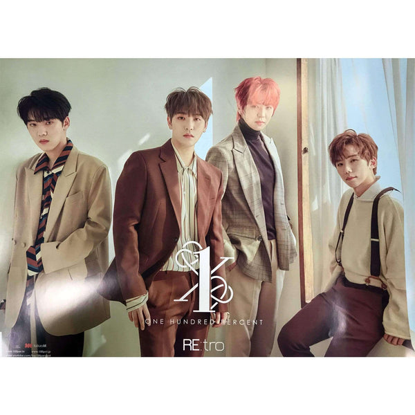 Music Plaza Poster 백퍼센트 | 100% | RE:TRO - 6TH MINI ALBUM (2 posters set) |  POSTER