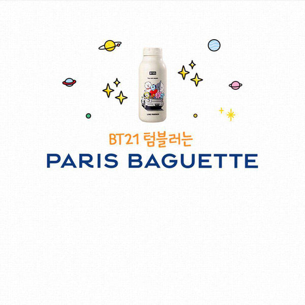 MUSIC PLAZA Goods BT21 x PARIS BAGUETTE  BOTTLE TUMBLER | OFFICIAL MD