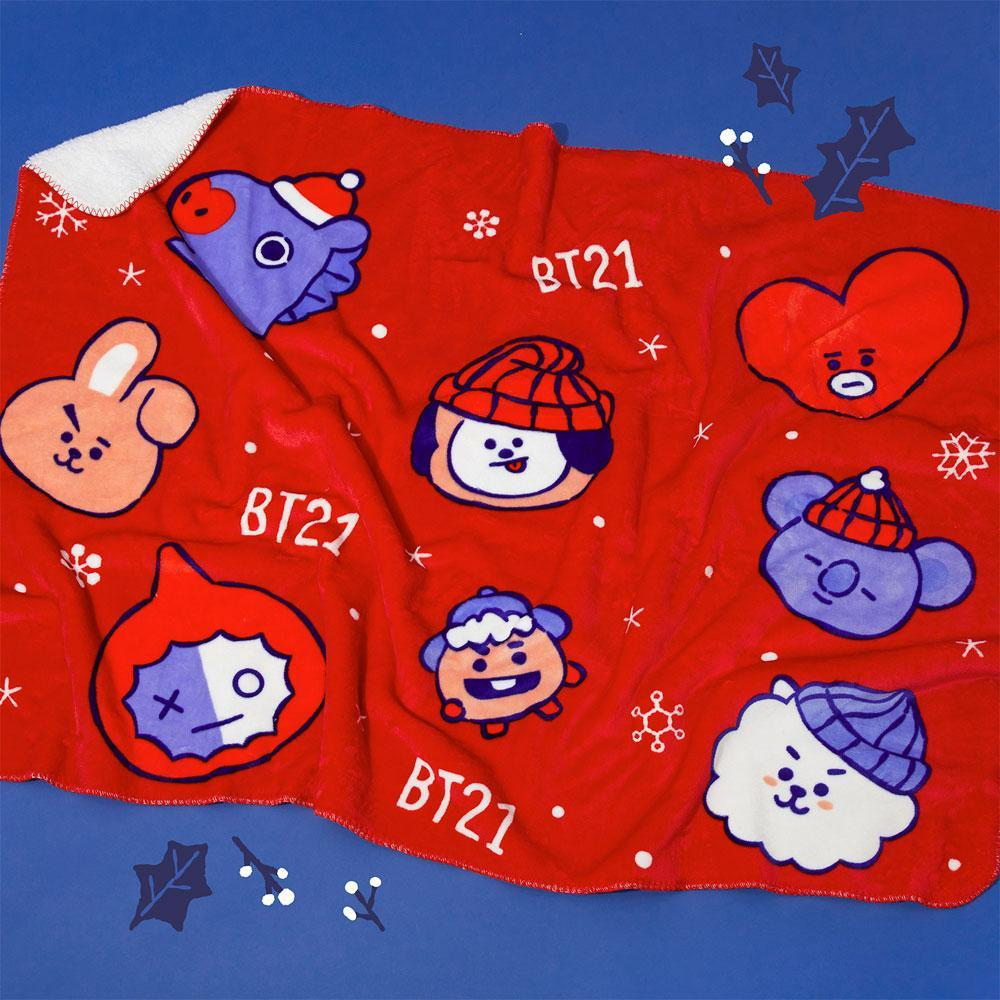 BT21* CHRISTMAS WINTER BLANKET | LINE FRIENDS  OFFICIAL MD