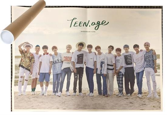 MUSIC PLAZA Poster GREEN VER. 세븐틴 | SEVENTEEN | 2nd album - TEEN, AGE | POSTER