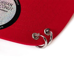 60a2e383 MUSIC PLAZA Goods Red Velvet Bad Boy Dad Hat with Long Strap ...