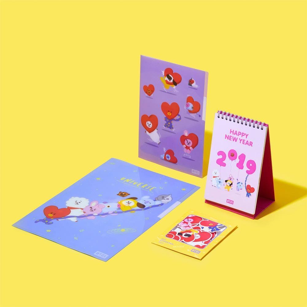 BT21* LINE FRIENDS 2019 DESK CALENDAR SET
