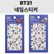 MUSIC PLAZA Goods 1-COOKY RJ KOYA SHOOKY BT21 x OLIVE YOUNG Nail Sticker [ LET IT SNOW EDITION ] Wish you a best holiday!
