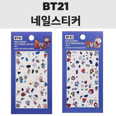 BT21 x OLIVE YOUNG Nail Sticker [ LET IT SNOW EDITION ]