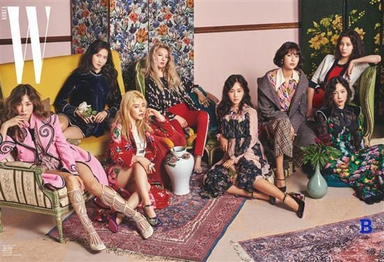 MUSIC PLAZA Magazine <strong>더블유 [ 소녀시대 ] | W [ SNSD ]</strong><br/>2017-8 <strong><font size=2 color=blue>B TYLE</strong></font><br/>KOREA MAGAZINE