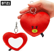 MUSIC PLAZA Goods TATA BT21 OFFICIAL GOODS [ PLUSH MIRROR BAG CHARM ] BTS