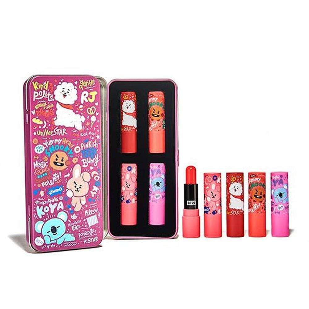 BT21* OLIVE YOUNG GENTLE BREEZE TINT LIP BALM KIT