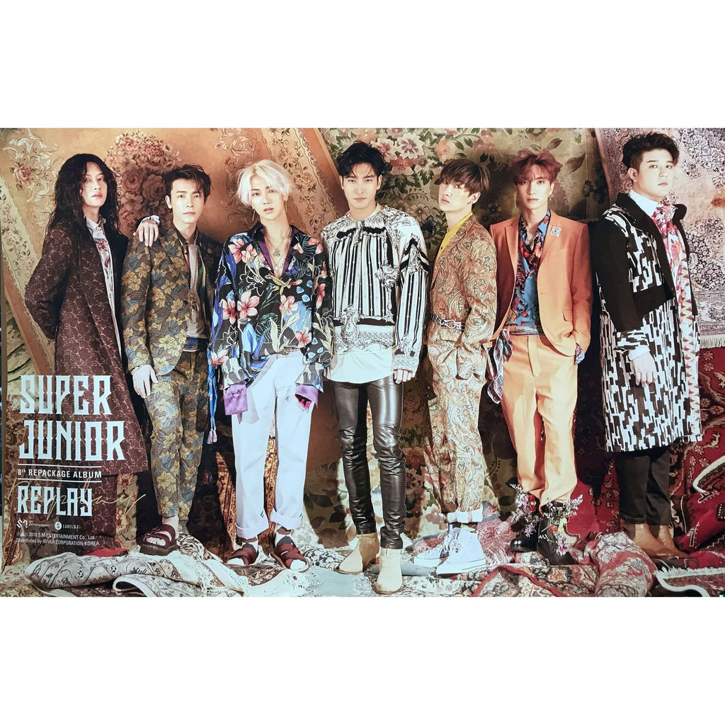 슈퍼주니어 | SUPER JUNIOR | 8TH ALBUM REPACKAGE - REPLAY SPECIAL EDITION | POSTER