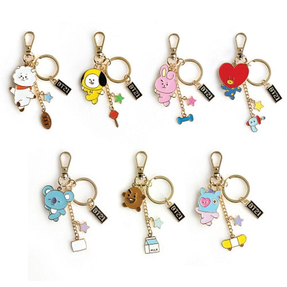 MUSIC PLAZA Goods RJ BT21 METAL KEYRING | OFFICIAL MD