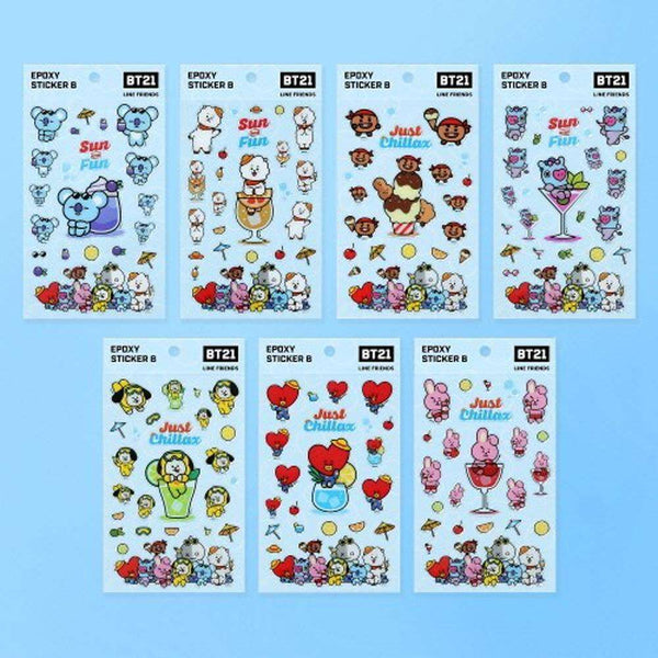 BT21 EPOXY STICKER B / OFFICIAL MD