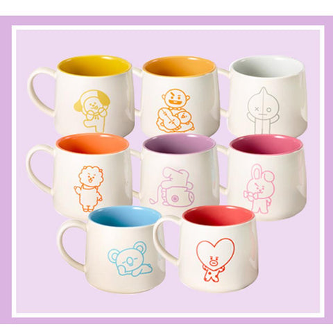 BT21 * PARIS BAGUETTE OFFICIAL MUG