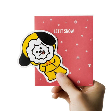 WINTER BT21 [ CHIMMY ] MESSAGE CARD