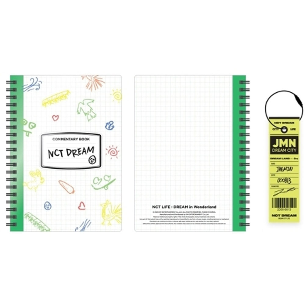 NCT DREAM - NCT LIFE : DREAM IN WONDERLAND COMMENTARY BOOK+LUGGAGE TAG SET