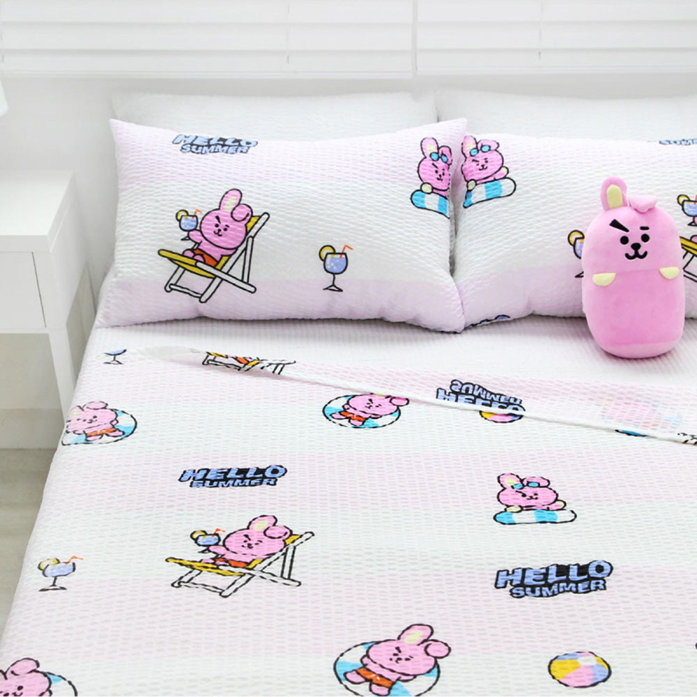 BT21 OFFICIAL RIPPLE BLANKET [ PINKISH COOKY ]