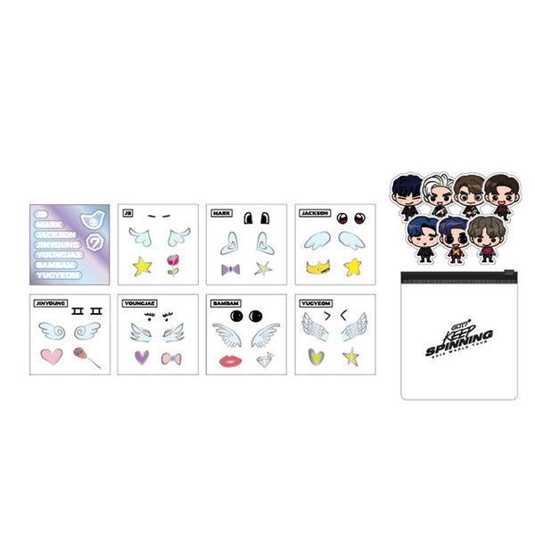 GOT7 [ OFFICIAL LIGHT STICK DECO STICKER ] 2019 WORLD TOUR GOODS