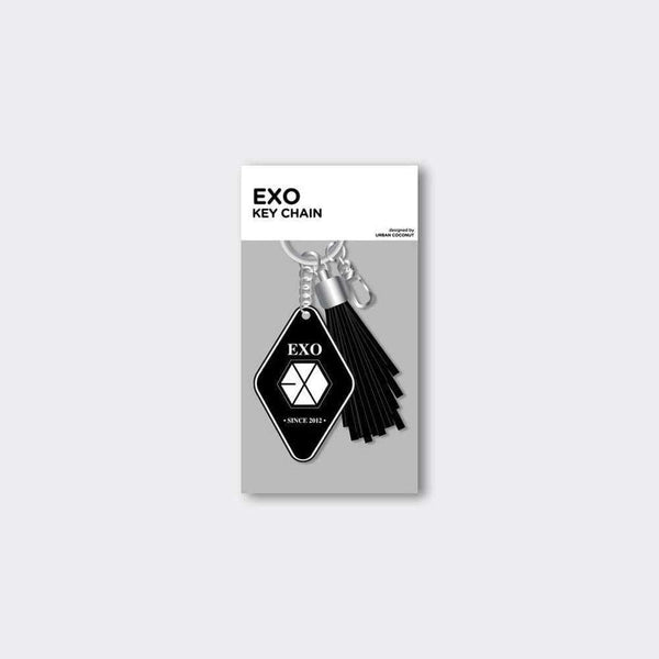 MUSIC PLAZA Goods EXO LEATHER TASSEL KEYCHAIN [ OFFICIAL MD ]