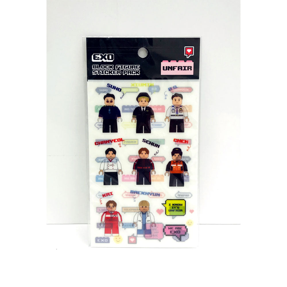 EXO BLOCK FIGURE STICKER PACK