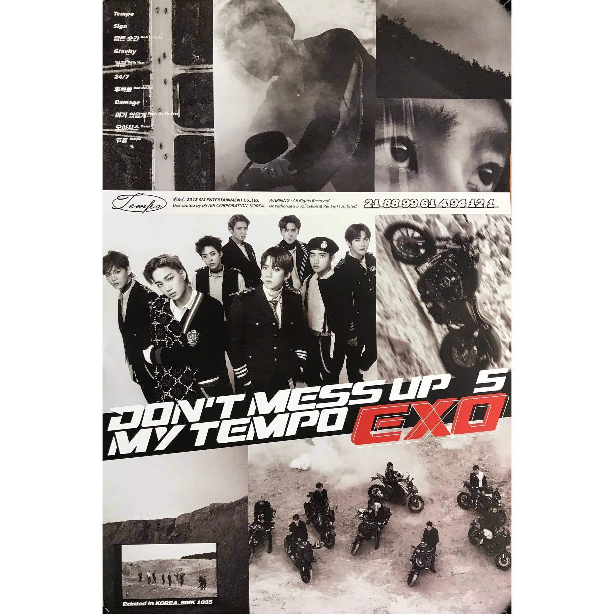엑소 | EXO 5TH ALBUM [ DON'T MESS UP MY TEMPO ] POSTER ONLY