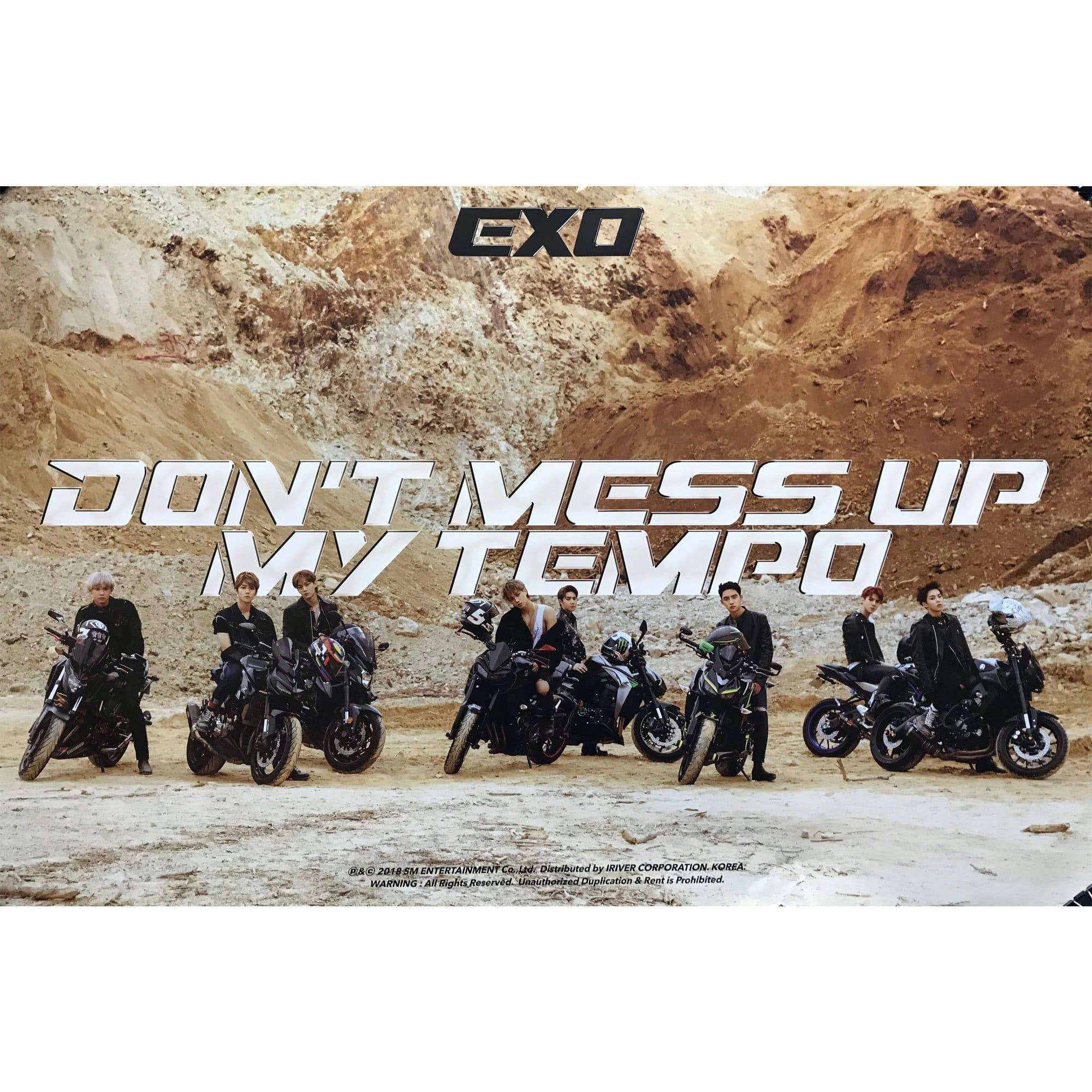 EXO 5TH ALBUM [ DON'T MESS UP MY TEMPO ] POSTER