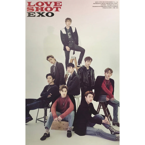 MUSIC PLAZA Poster D. SHOT2 ver 엑소 | EXO |  5th repackage album - [LOVE SHOT] | POSTER
