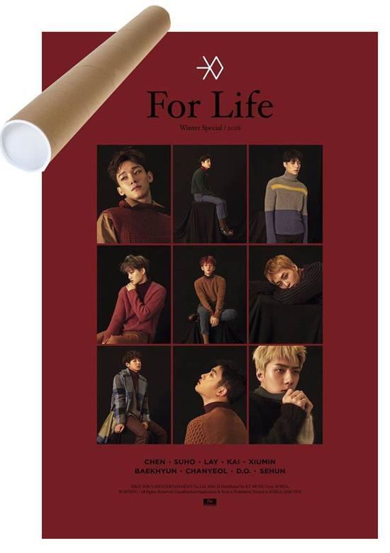 MUSIC PLAZA Poster 엑소 | EXO | WINTER SPECIAL- FOR LIFE RED ver | POSTER