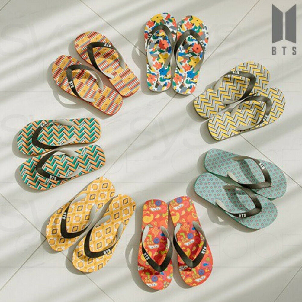 BTS IDOL FLIP-FLOPS | SIZE 7 | OFFICIAL MD