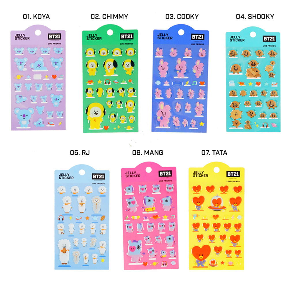 BT21 JELLY STICKER