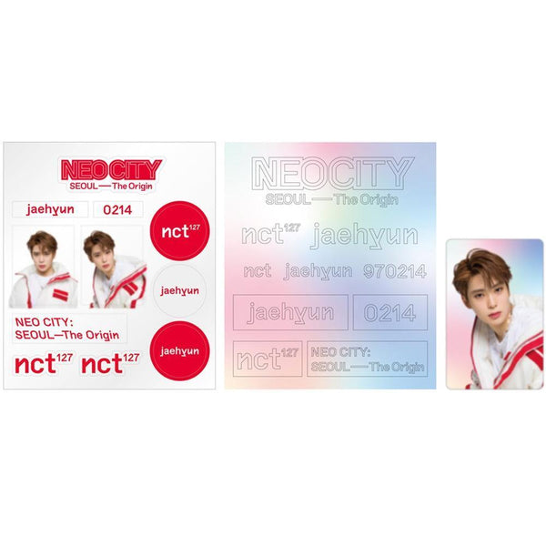 MUSIC PLAZA Goods TAEYONG NCT 127 [ NEO CITY : SEOUL- THE ORIGIN ] LIGHT STICK DECO 2 STICKER+1 PHOTO CARD
