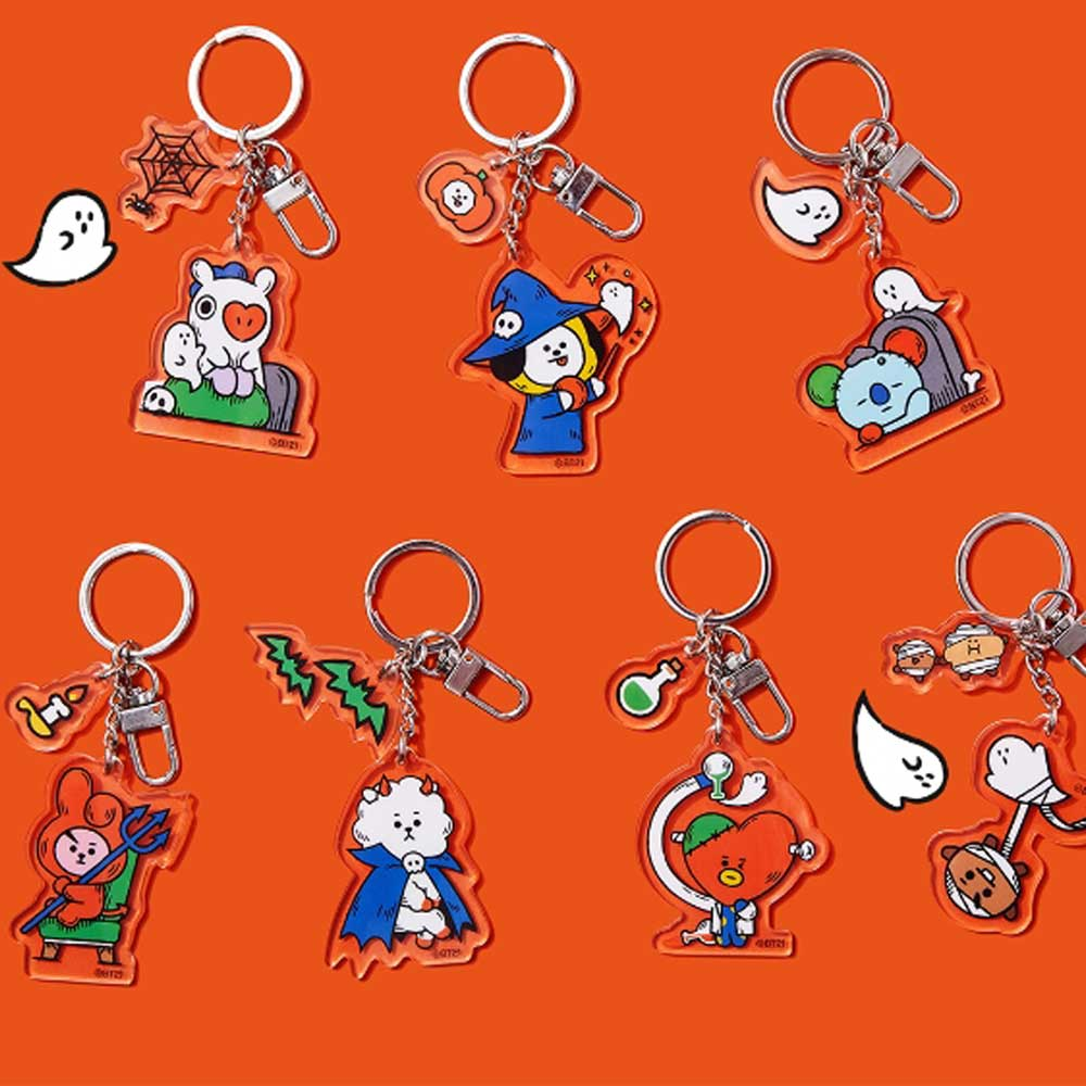 BT21 2019 HALLOWEEN COLLECTION [ KEY RING - KNOCK, KNOCK WHO'S THERE]