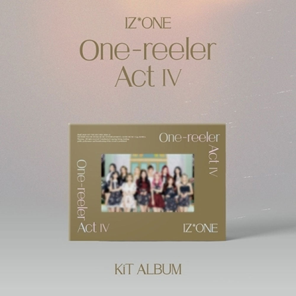 아이즈원 | IZ* ONE 4TH MINI ALBUM [ ONE-REELER / ACT Ⅳ ] KIT ALBUM
