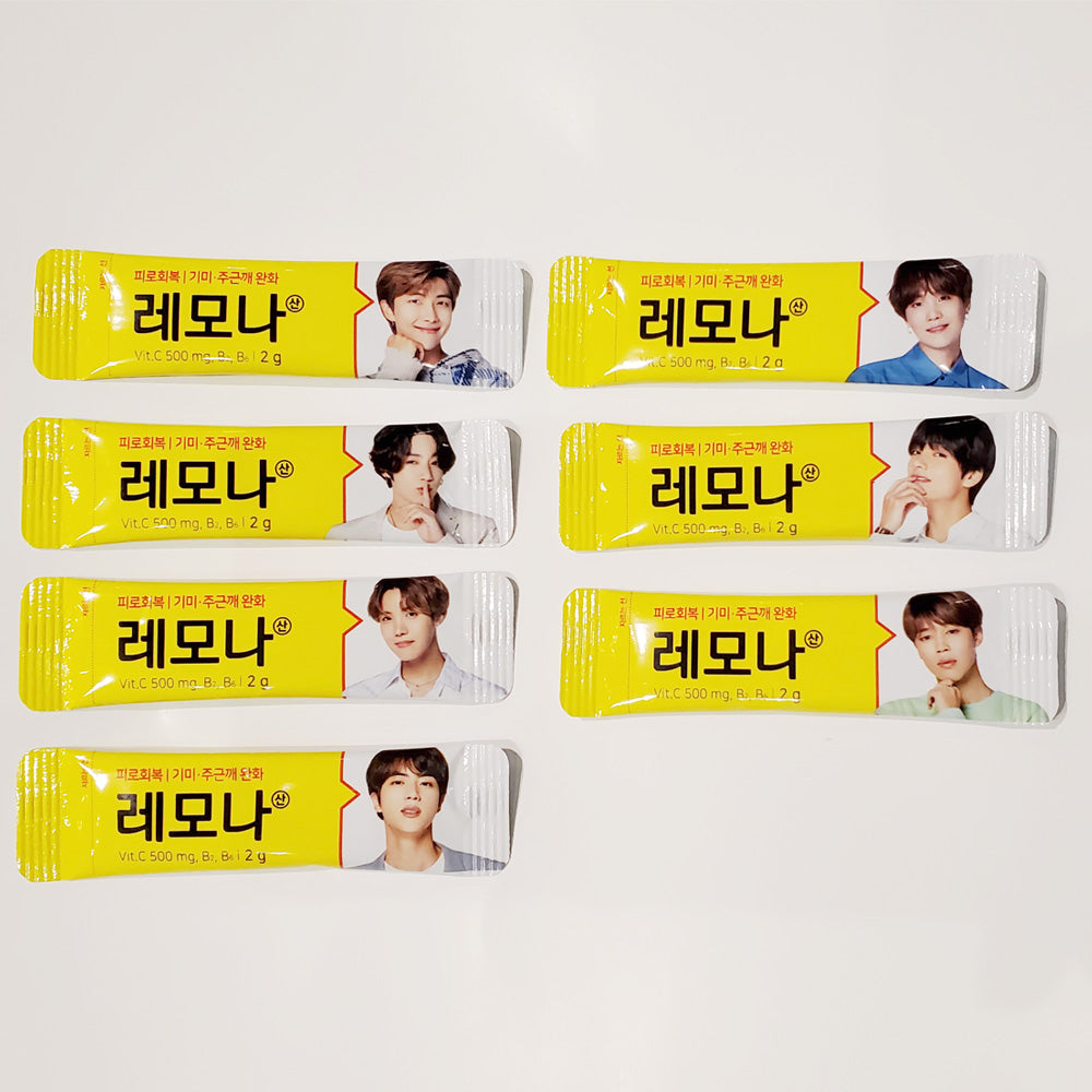 BTS* LEMONA VITAMIN POWDER STICK | 7 PCS