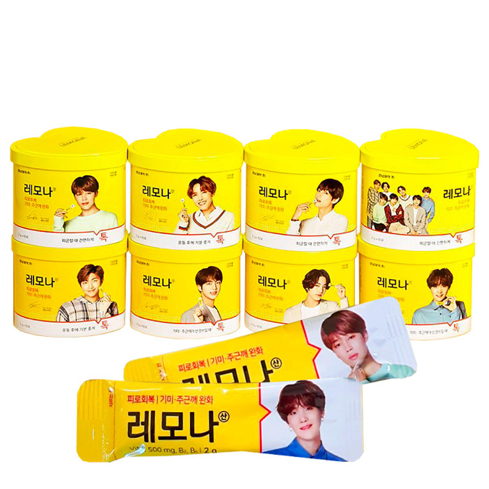 BTS* LEMONA VITAMIN HEART CAN  /60 PCS