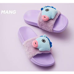 BT21 PLUSH DOLL SLIPPERS | SIZE : 8 / LIMITED EDITION | OFFICIAL MD