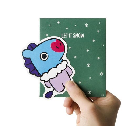 WINTER BT21 [ MANG ] MESSAGE CARD