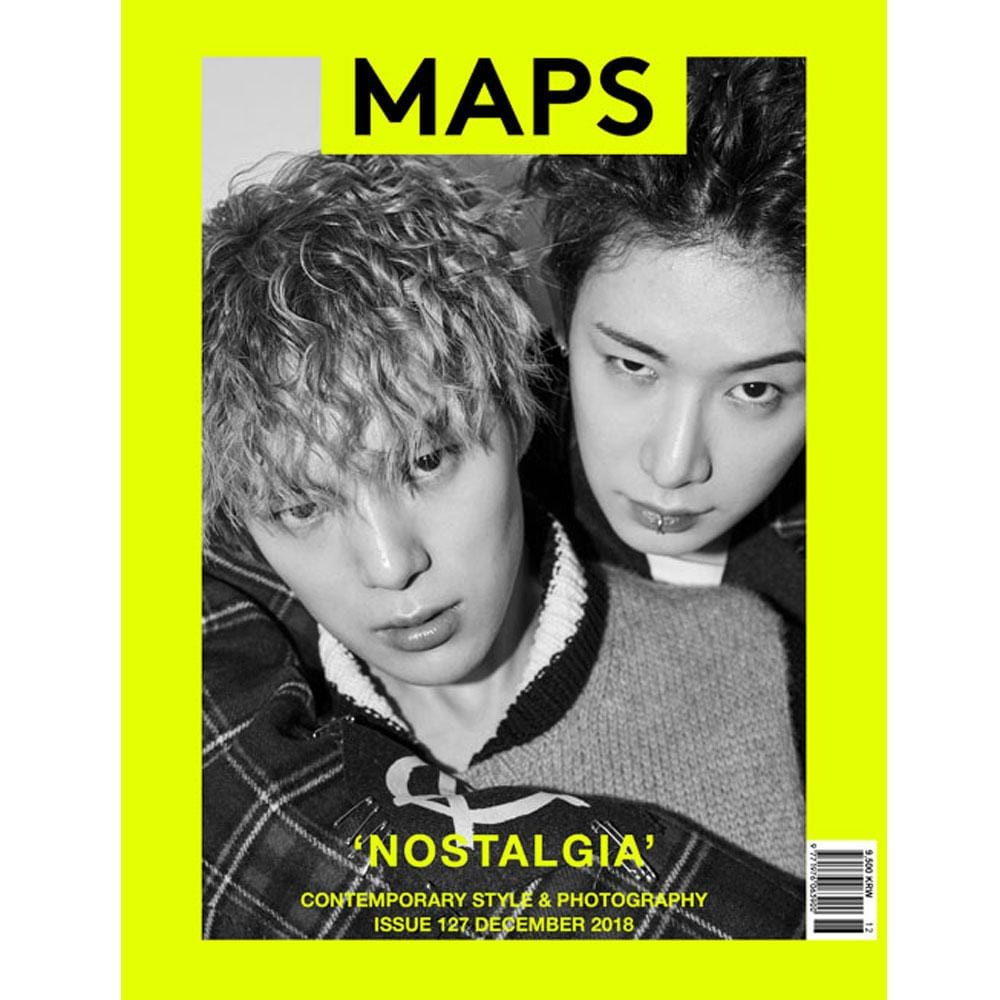 MUSIC PLAZA Magazine 맵스 | MAPS 2018-12 [ COVER- MONSTA X ] KOREA MAGAZINE