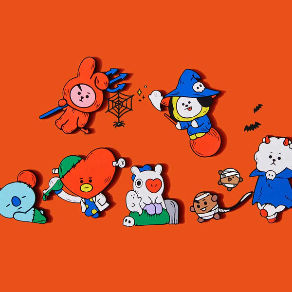 BT21 2019 HALLOWEEN COLLECTION [ MAGENET SET-  KNOCK, KNOCK WHO'S THERE]